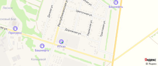 Дорожная улица на карте Бирска с номерами домов