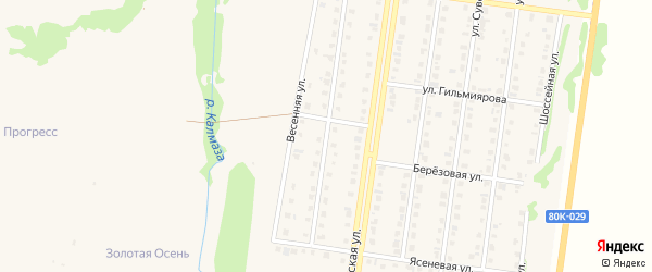 Весенняя улица на карте Бирска с номерами домов