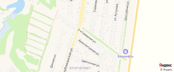 Северная 2-я улица на карте Бирска с номерами домов