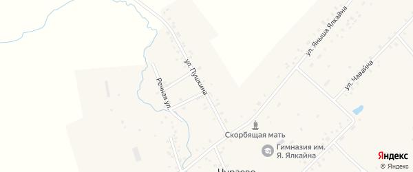 Улица Пушкина на карте села Чураево с номерами домов