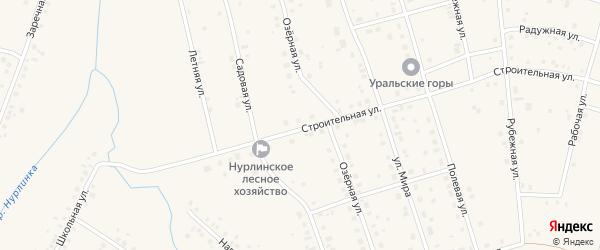 Строительная улица на карте села Нурлино с номерами домов