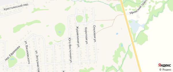 Короткая улица на карте Бирска с номерами домов