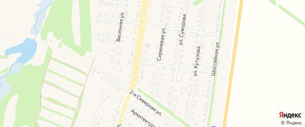 Вишневая улица на карте Бирска с номерами домов