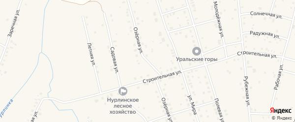 Озерная улица на карте села Нурлино с номерами домов