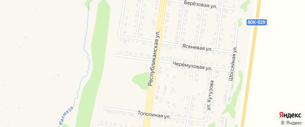Республиканская улица на карте Бирска с номерами домов