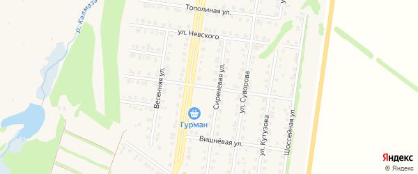 Парковая улица на карте Бирска с номерами домов