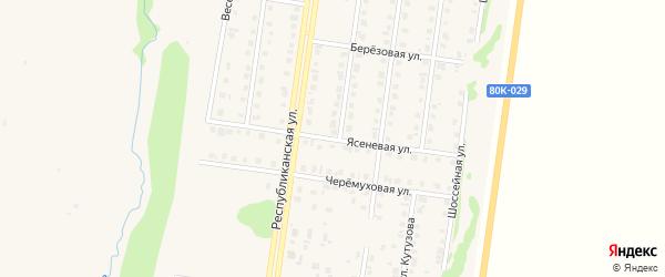 Ясеневая улица на карте Бирска с номерами домов