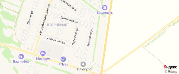 Трактовая улица на карте Бирска с номерами домов