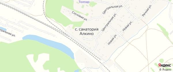 Сосновая улица на карте села Санатория Алкино с номерами домов