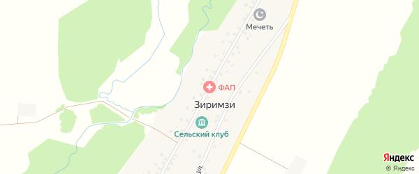 Центральная улица на карте деревни Зиримзи с номерами домов
