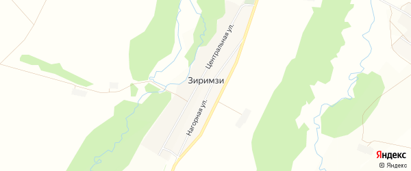 Карта деревни Зиримзи в Башкортостане с улицами и номерами домов