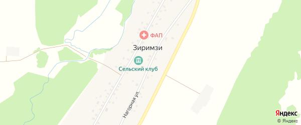 Нагорная улица на карте деревни Зиримзи с номерами домов
