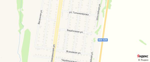 Березовая улица на карте Бирска с номерами домов