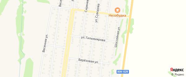 Улица Гильмиярова на карте Бирска с номерами домов