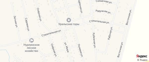 Полевая улица на карте села Нурлино с номерами домов