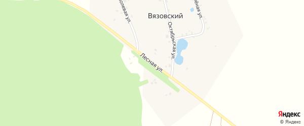 Лесная улица на карте деревни Вязовского с номерами домов