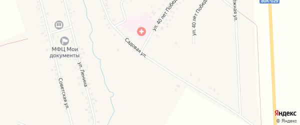 Садовая улица на карте села Чураево с номерами домов