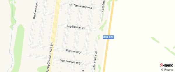 Улица Кутузова на карте Бирска с номерами домов