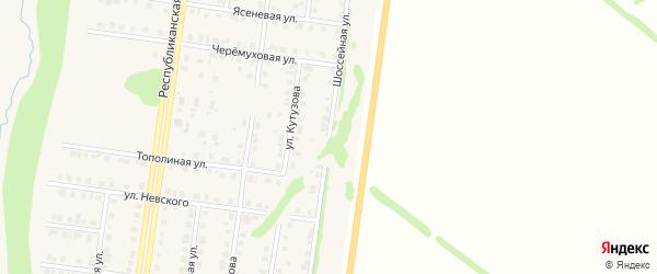Шоссейная улица на карте Бирска с номерами домов