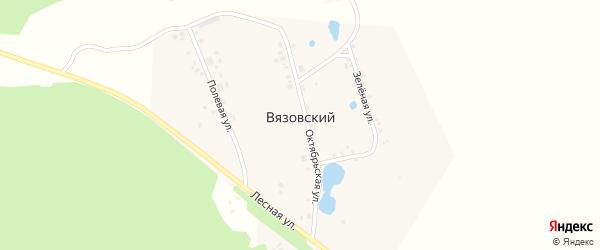 Озерный переулок на карте деревни Вязовского с номерами домов