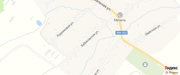 Бабиковская улица на карте деревни Арово с номерами домов