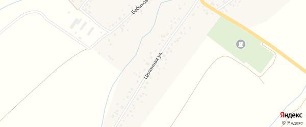 Целинная улица на карте деревни Арово с номерами домов