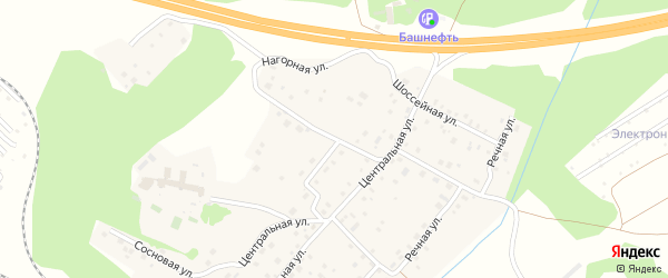 Нагорная улица на карте села Санатория Алкино с номерами домов