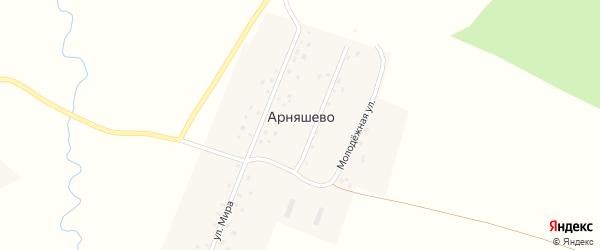 Молодежная улица на карте деревни Арняшево с номерами домов