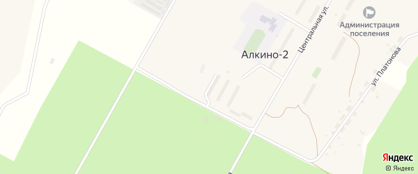 Улица Фомина на карте села Алкина-2 с номерами домов