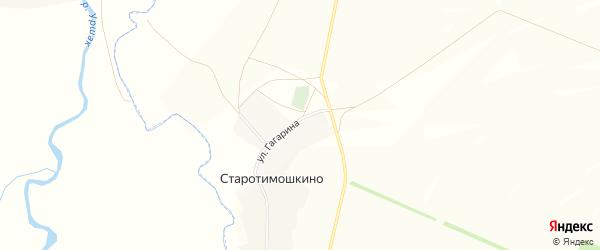 Карта деревни Старотимошкино в Башкортостане с улицами и номерами домов