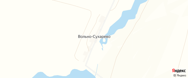 Карта деревни Вольно-Сухарево в Башкортостане с улицами и номерами домов