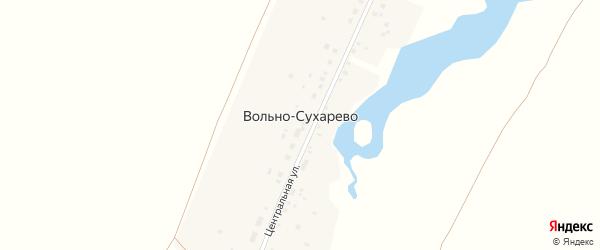 Центральная улица на карте деревни Вольно-Сухарево с номерами домов