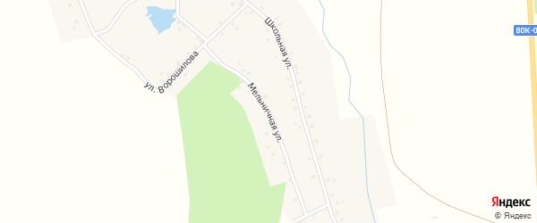 Мельничная улица на карте деревни Сосновки с номерами домов