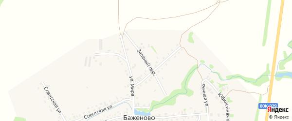Зеленый переулок на карте села Баженово с номерами домов