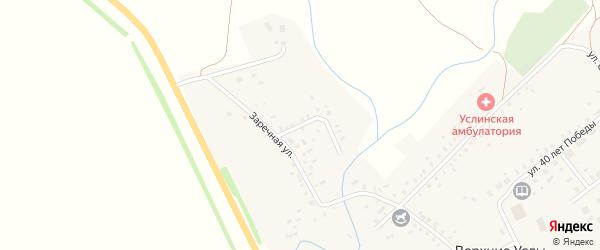 Северная улица на карте села Верхние Услы с номерами домов