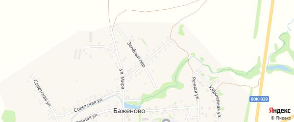 Социалистическая улица на карте села Баженово с номерами домов