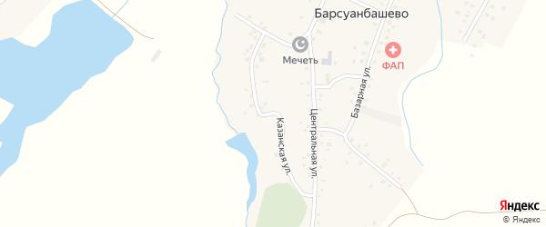Казанская улица на карте села Барсуанбашево с номерами домов