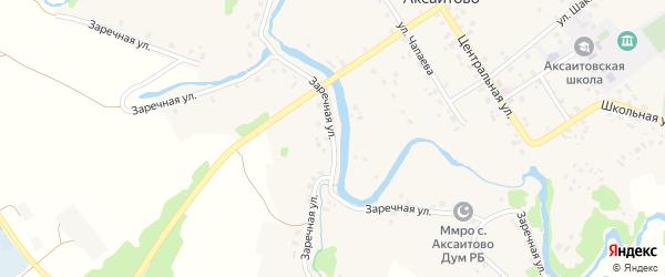 Заречная улица на карте села Аксаитово с номерами домов