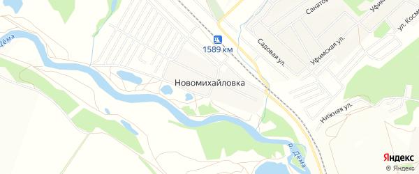 СТ СНО Сахра на карте деревни Новомихайловки с номерами домов