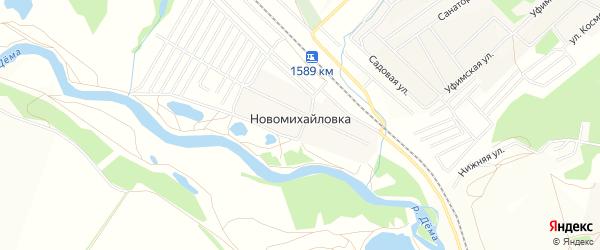 СНТ Локомотив-24 на карте деревни Новомихайловки с номерами домов