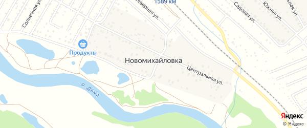 Центральная улица на карте деревни Новомихайловки с номерами домов