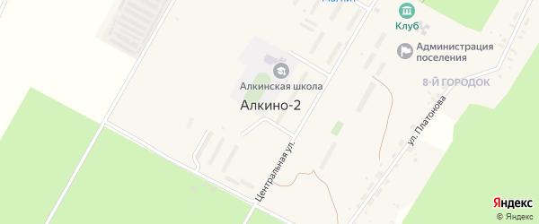 Транспортная улица на карте села Алкина-2 с номерами домов