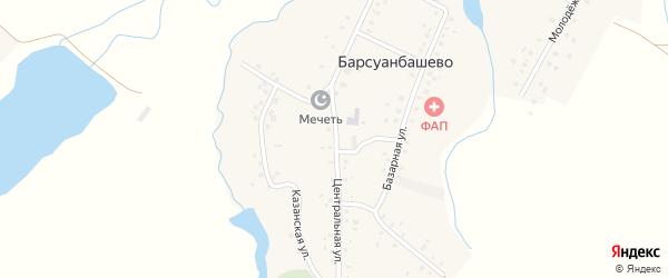 Центральная улица на карте села Барсуанбашево с номерами домов
