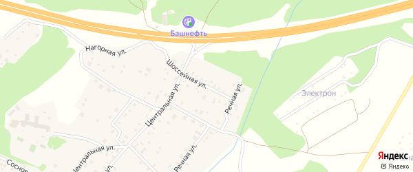 Шоссейная улица на карте села Санатория Алкино с номерами домов