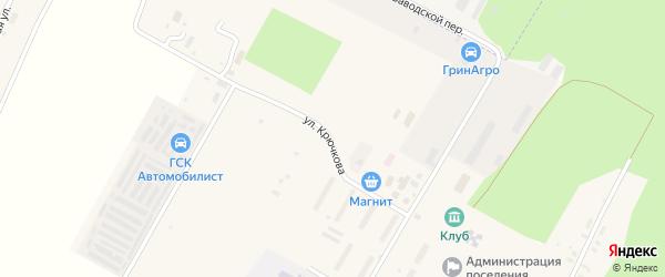 Улица Крючкова на карте села Алкина-2 с номерами домов