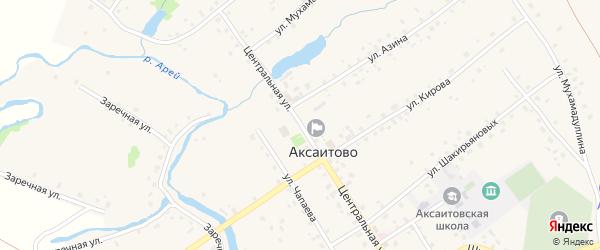 Колхозная улица на карте села Аксаитово с номерами домов