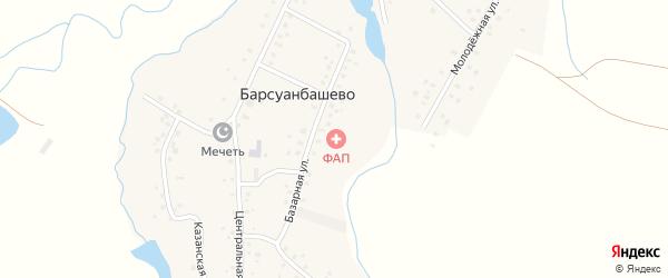 Речной переулок на карте села Барсуанбашево с номерами домов