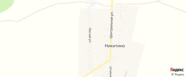 Лесная улица на карте деревни Никитино с номерами домов