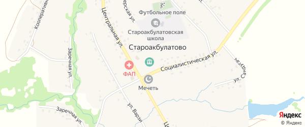 Кооперативная улица на карте села Староакбулатово с номерами домов