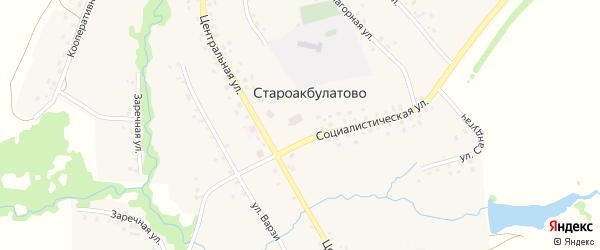 Садовая улица на карте села Староакбулатово с номерами домов
